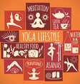 yoga lifestyle vector image