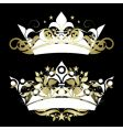 ornate crown vector image vector image