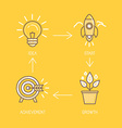 Business development and strategy vector image