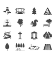 Park icons set vector image