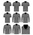 Collection of men polo shirt vector image vector image