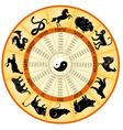 Chinese calendar animals vector image