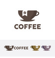 coffee brand logo vector image
