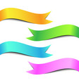 Colorful Ribbon Banner Set vector image