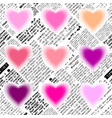 halftone hearts newspapers vector image