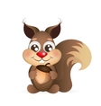 Happy cartoon squirrel vector image