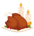 happy thanksgiving day design holiday objects vector image