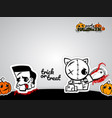 helloween evil voodoo doll pop art comic vector image