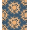 Seamless pattern in peach and blue vector image