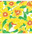 seamless pattern with narcissus flowers vector image