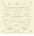 Vintage Design Borders Retro Elements Frame Ve vector image