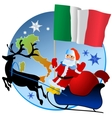 Merry Christmas Italy vector image