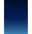 Night starry sky Vertical background vector image
