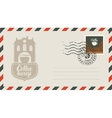 envelope with a stamp for a coffee house vector image