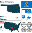 Map of Oklahoma vector image