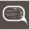 floral speech bubble dark2 vector image vector image