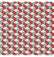 Isometric 3d retro cube pattern background vector image
