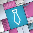 Tie icon sign Modern flat style for your design vector image