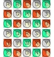 Abstract creative font vector image