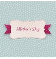Mothers Day paper Banner with festive Ribbon vector image