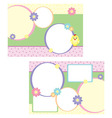 tri-folder template for spring vector image