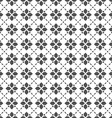 Black and white seamless flower pattern in vector image