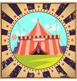 Circus Cartoon Poster vector image