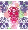Day Of The Dead Skull Seamless on vector image