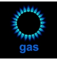 flames of gas vector image