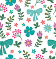 Floral seamless pattern with flowers and brunches vector image