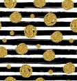 Gold circles on black handdrawn line Trendy vector image