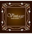 Gold frame with diamond Vintage frame vector image