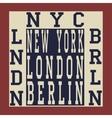 New york Berlin London vector image