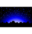 night space landscape vector image