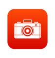 photo camera icon digital red vector image