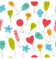 Seamless pattern with party balloons of different vector image