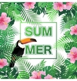 Summer tropical background with palm leaves vector image