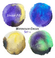Watercolor Purple Yellow and Green Colorful vector image