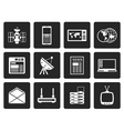 Black Communication and Business Icons vector image vector image