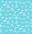 apiary blue outline icon seamless pattern vector image