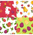 easter poster of colorful pictures with vector image vector image