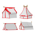 white tent isolate design set vector image vector image