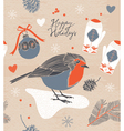Christmas decoration Bird and berries vector image