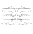 Ornate set of borders on a white background Hand vector image