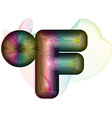 Abstract colorful Fahrenheit Symbol vector image vector image