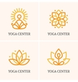 Four yoga logo vector image