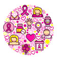breast cancer concept design vector image