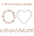 Set of flower frames vector image