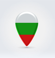 Bulgarian icon point for map vector