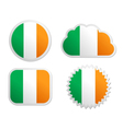Ireland flag labels vector image vector image